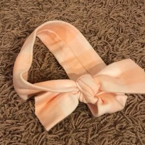Other - Peach and white baby Bow